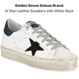 NEW! Golden Goose GGDB Hi Star Leather Sneakers